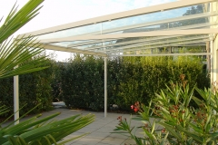Gartensitzplatzdach mit Verglasung